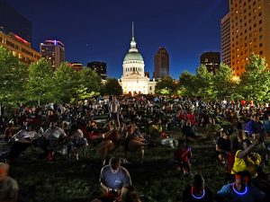 July  4th STL Arch Fireworks Celebration  DWP©18